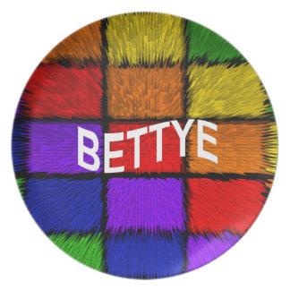 BETTYE MELAMINE PLATE