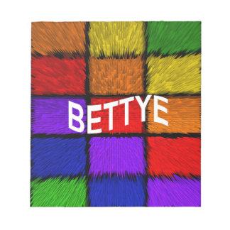 BETTYE NOTEPAD