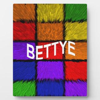 BETTYE PLAQUE