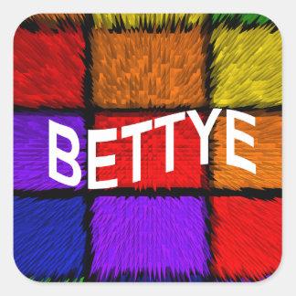 BETTYE SQUARE STICKER