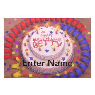Betty's Birthday Cake Placemat