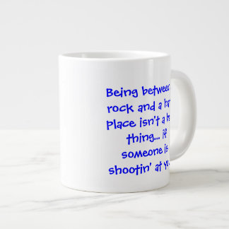 Between a Rock and a Hard Place - Senior citizens Large Coffee Mug