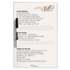 Between Carpools Shabbos Checklist Dry-erase Board at Zazzle