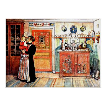 Christmas Themed Between Christmas and New Aco, Carl Larsson art Poster