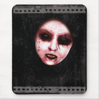 Between Frames Gothic Horror Art Mouse Pad