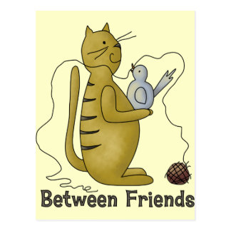 Between Friends Cat Postcard