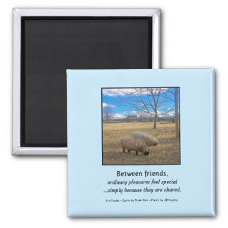 Between Friends... 2 Inch Square Magnet