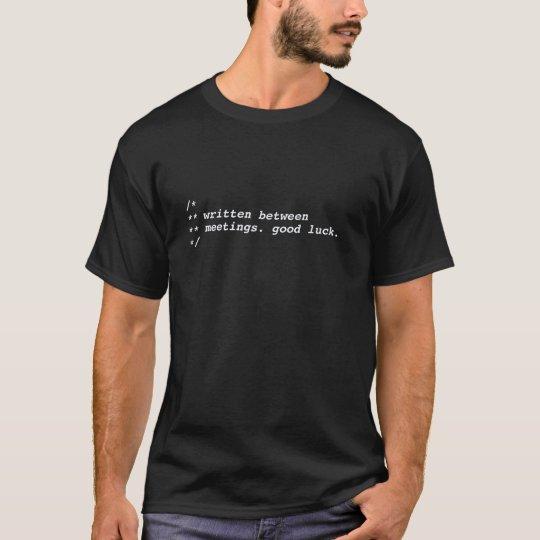 between meetings - black/white T-Shirt