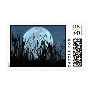Between Moon and Marsh Postage Stamps