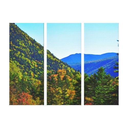 Between Ridges Triptych Canvas Print