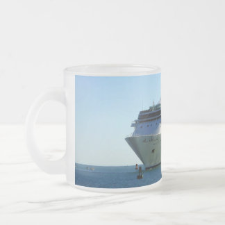 Between the Buoys Frosted Glass Coffee Mug