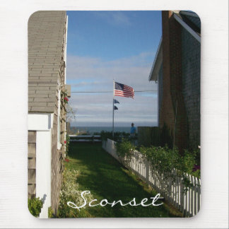 Between the cottages in Sconset Mouse Pad