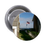 Between the cottages in Sconset Pinback Buttons