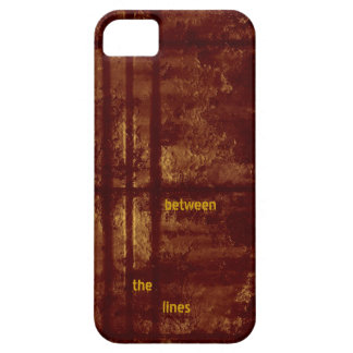 Between the Lines, Grungy Gold and Burgundy iPhone SE/5/5s Case