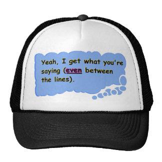 Between the lines trucker hat