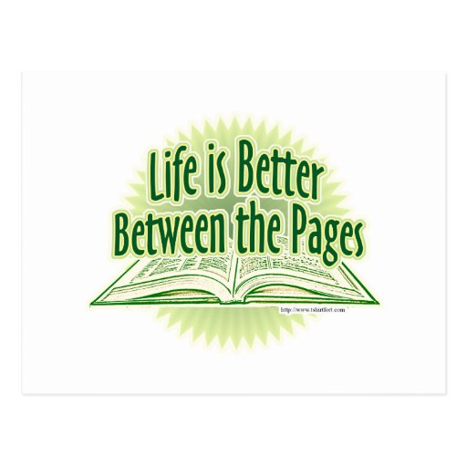 Between the Pages Green Style Postcard