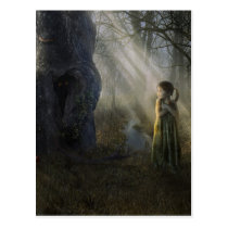 child, girl, fear, eyes, dark, alone, animals, tree, trees, forest, scenery, dreamland, digital, houk, art, artwork, illustration, digital art, surreal, surreal art, fantasy, fairytales, gifts, gift, magical, eerie, adorable, mystic, mood, mysterious, mystery, excellent, fabulous, cool, unique, awesome, amazing, wonderful, impressive, atmospheric, Postcard with custom graphic design