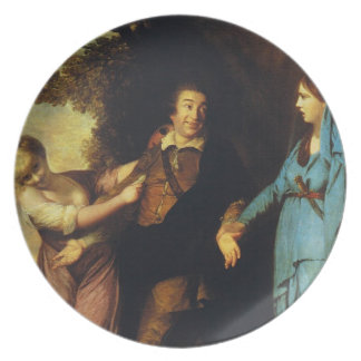 Between Tragedy And Comedy - David Garrick Plate