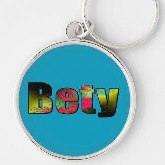 Bety Round Keychain