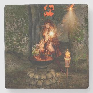 Beuatiful witch stone beverage coaster