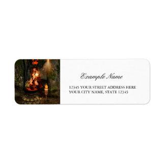 Beuatiful witch return address label