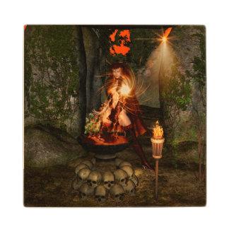 Beuatiful witch wood coaster