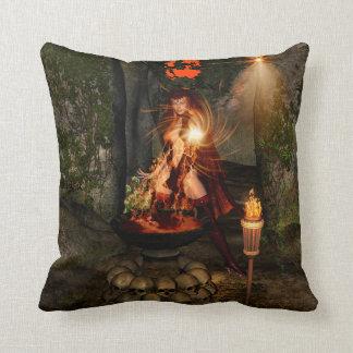 Beuatiful witch throw pillows