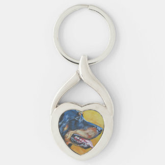 Beuceron fine art dog painting keychain