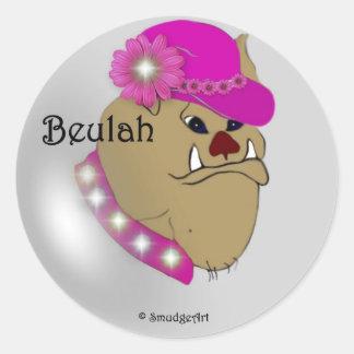 Beulah Classic Round Sticker
