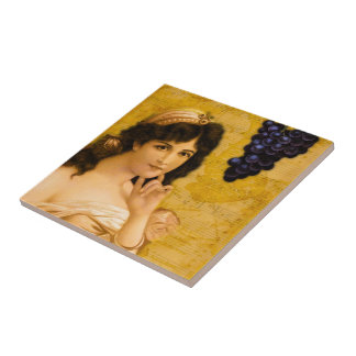 Beulah, me pela una uva azulejo cuadrado pequeño