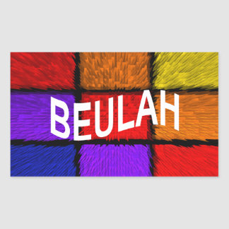 BEULAH PEGATINA RECTANGULAR