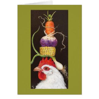 Beullah con la tarjeta del gorra del veggie