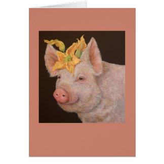 Beullah la tarjeta del cerdo