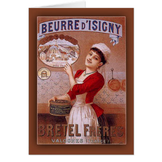 Beurre d'Isigny by Bretel Freres Vintage Ad Card