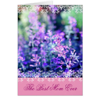 Beutiful lavender Mother's Day gift Card
