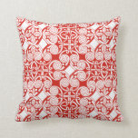 Beutiful Red & White Celtic Design Throw Pillow