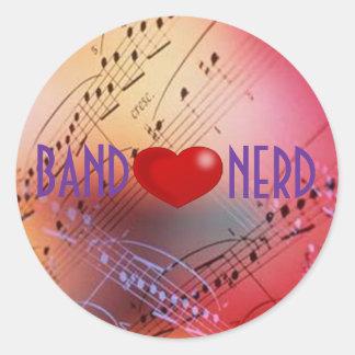 beutifulmusic, lil_red_heart, BAND, NERD Round Stickers