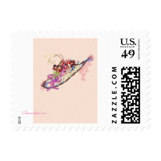 Beuuutiful hat postage stamp