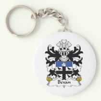 Bevan Family Crest Keychain