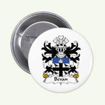 Bevan Family Crest Button