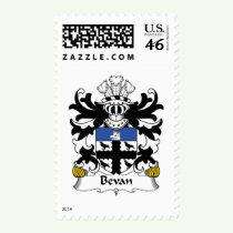 Bevan Family Crest Stamps