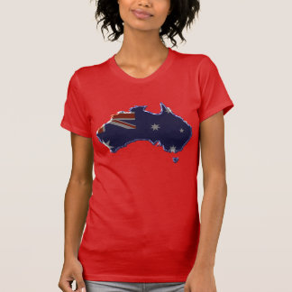 Bevel flag map of Australia T-Shirt