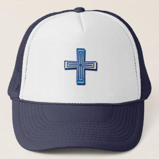 Beveled Cross 1 Trucker Hat