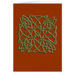 beveled green knot card