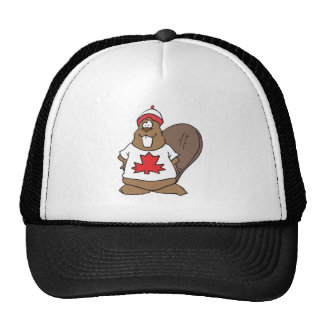 bever canadiense feliz gorra