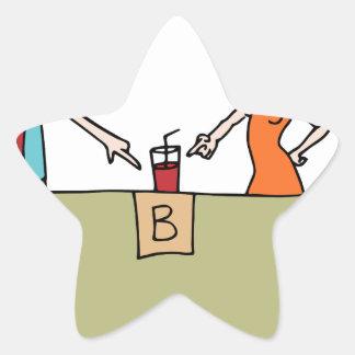 Beverage Blind Taste Test Star Sticker