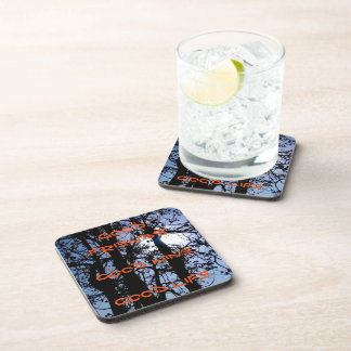 beverage coasters with landscape photo