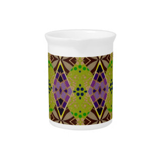 Beverage Pitcher with Olive Pattern