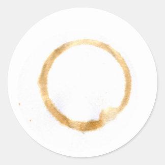 Beverage Ring Stain Round Sticker