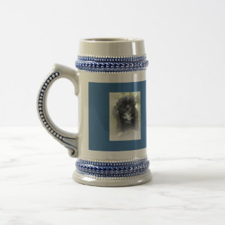 Beverage Stein with Shih Tzu puppy on each side